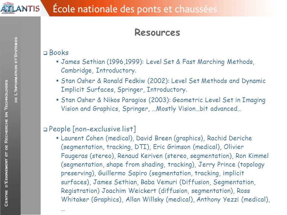 Resources Books People [non-exclusive list]